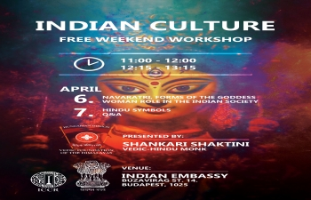 CYCLE OF INDIAN CULTURE WORKSHOPS - 6, 7 April programme