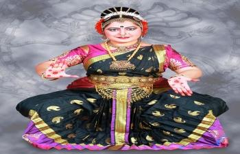 Saraswathi Rajathesh (kúcsipúdí tánc) és Rajeshwari Chandraja (ének) előadása
