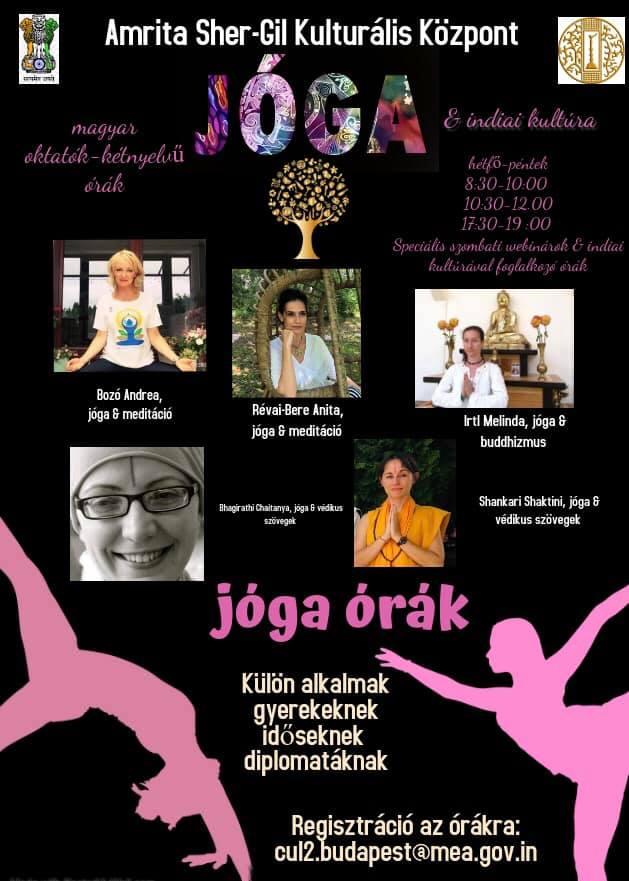 Yoga classes new schedule I Jógaórák - új órarend