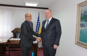 Mr. Sanjeev Manchanda, Second Secretary (Pol&Com) called on the Vice-President of the Foreign Trade Chamber of BiH