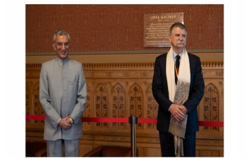 150th BIRTH ANNIVERSARYCELEBRATION OF MAHATMA GANDHIJI SPEAKER KOVER INAUGURATES CELEBRATION IN HUNGARIAN PARLIAMENT