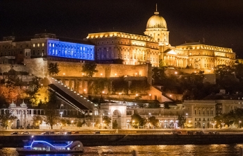 150th BIRTH ANNIVERSARYCELEBRATION OF MAHATMA GANDHIJI LED  PROJECTION AT BUDA CASTLE,BUDAPEST
