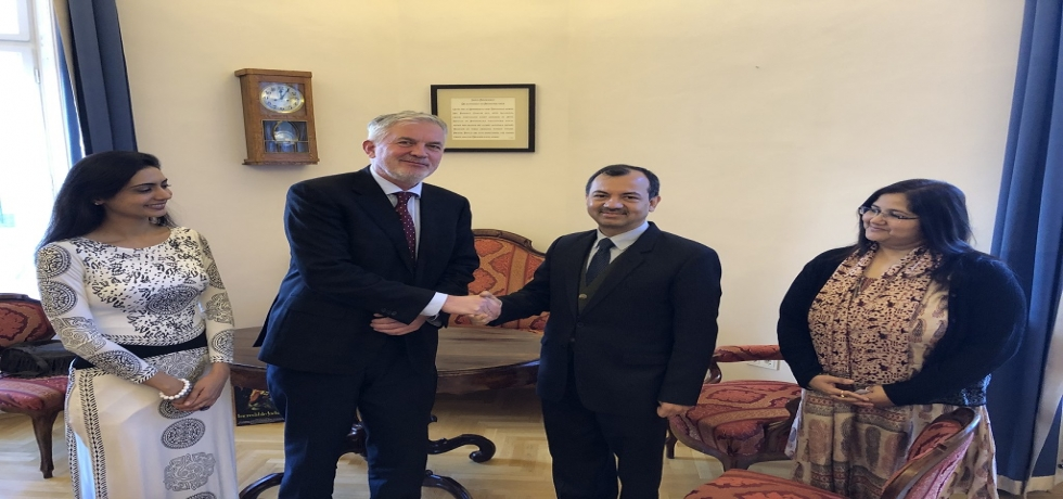 Ambassador Kumar Tuhin met with Mr. Zsolt Páva, Mayor of Pécs