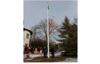 Celebration of India's Republic Day.The Embassy of India in Hungary celebrated the 70th Republic Day of India on Jan 26, 2019.