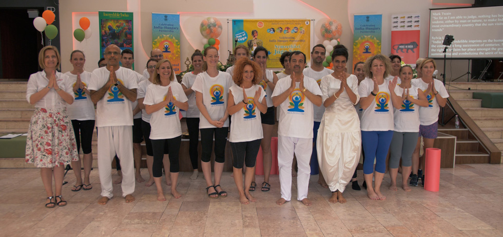 The 5th International Day of Yoga was celebrated in the city of Mosonmagyaróvár on 19th June 2019.Mayor of Mosonmagyaróvár joined enthusiastic yoga participants and Ambassador Kumar Tuhin.