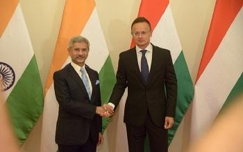 EAM Dr. S. Jaishankar met Foreign Minister of Hungary Mr. Peter Szijjarto on 26th August, 2019.