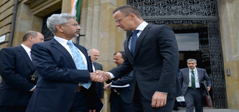 EAM Dr. S.Jaishankar with Foreign Minister of Hungary Mr. Peter Szijjarto