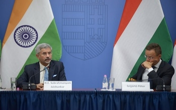 EAM Dr. S.Jaishankar addressed the Annual Conference of Hungarian Heads of Missions, with Foreign Minister of Hungary Mr. Peter Szijjarto