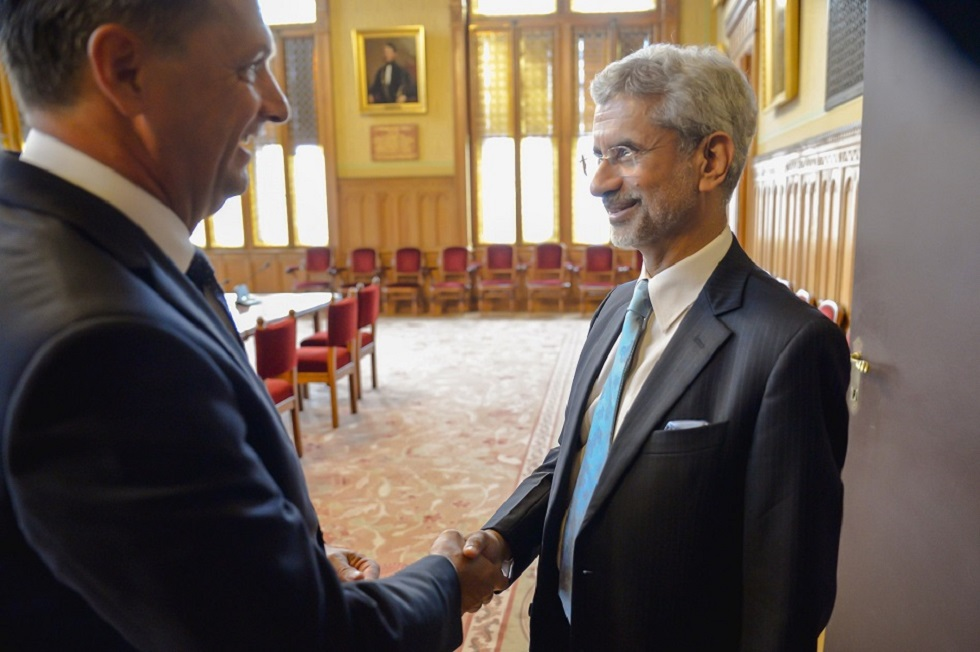 EAM Dr. S. Jaishankar met H.E Mr. Peter Cseresnyes Chairman of Indo-Hungarian Parliamentary Society.