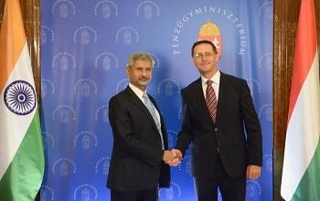 EAM Dr. S. Jaishankar met Mr. Mihaly Varga, Deputy Prime Minister and Finance Minister of Hungary