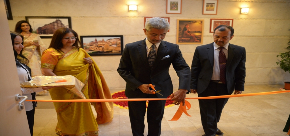 EAM Dr. S Jaishankar inaugurated a photo exhibition on photographs of 70 Years of India-Hungary Bilateral relations organised at Amrita Sher-Gil Cultural Centre on 26th August..