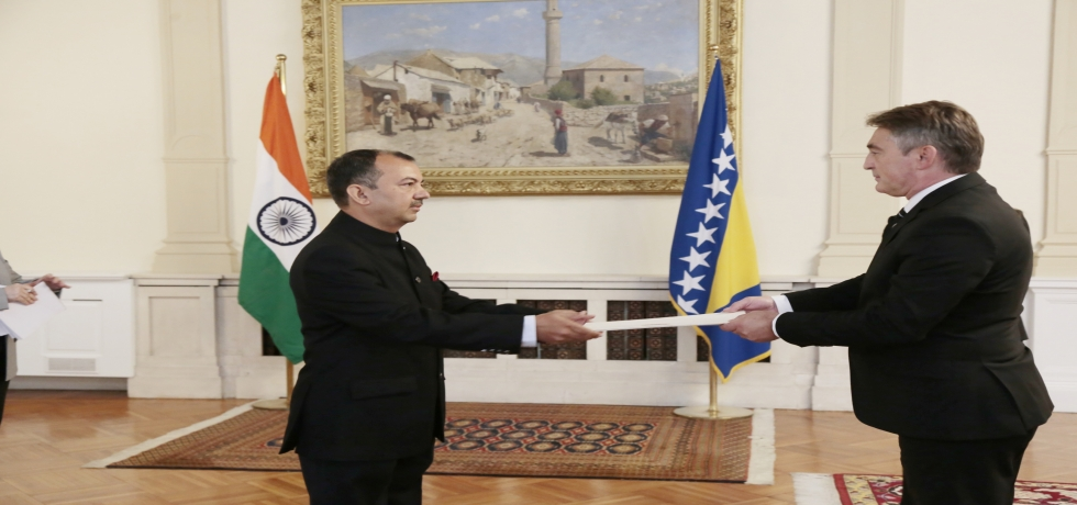 Ambassador Kumar Tuhin presented credentials to  H.E.  Željko Komšić,  Chairman of Presidency of  Bosnia and Herzegovina