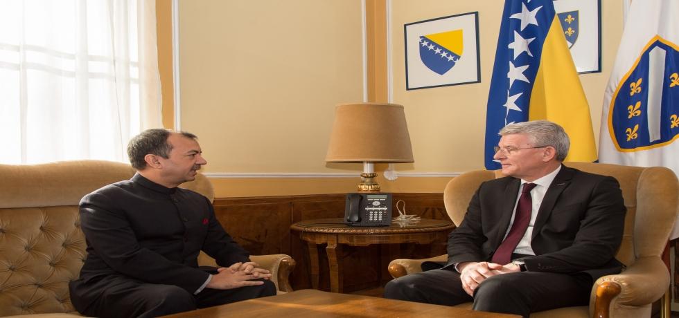 Ambassador Kumar Tuhin met Mr. Šefik Džaferović, Member of Presidency of Bosnia and Herzegovina