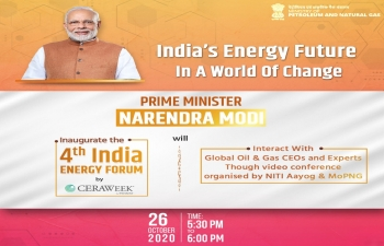 Hon'ble PM Modi's interaction with global Oil and Gas CEOs, CERAWeek Inauguration, 26 Oct 2020