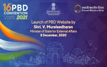 Pravasi Bhartiya Diwas website launched